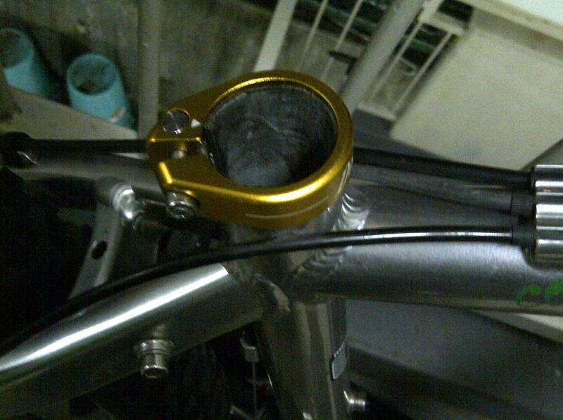 自転車の 自転車 後輪 ベアリング 音 : 新しいクランプを取り付け!