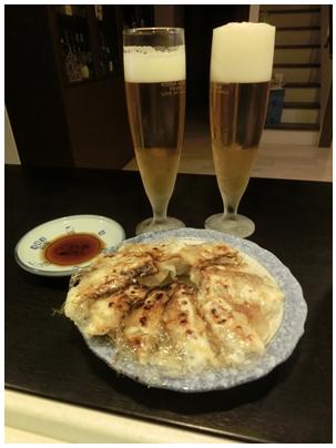 250122丸岡の餃子とビール