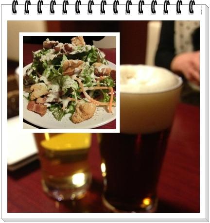 250219六甲ビール(シーザサラダとビール)