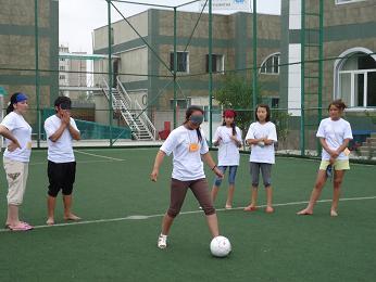 ブラインドサッカー実施