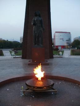 戦勝記念公園の聖火台