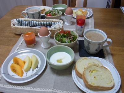 休日ならではの朝食
