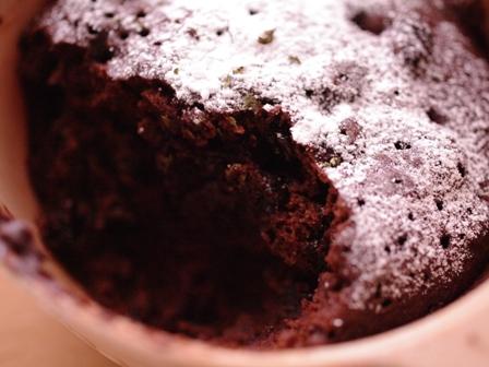 超簡単チョコミントのレンジケーキ00
