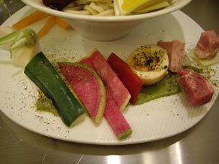 麺や庄の gotsubo ベジつけ麺(野菜)