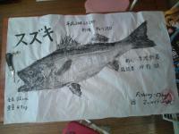 静男さん魚拓