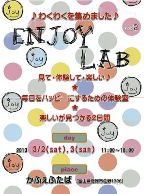 ENJOY LAB 201303表