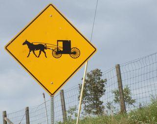 馬車飛び出し注意