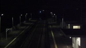 夜明け前の六軒駅