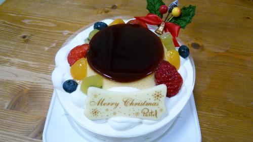 パステルのクリスマスケーキ