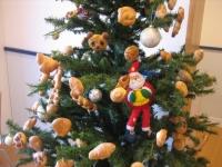 パンの飾りのクリスマスツリー