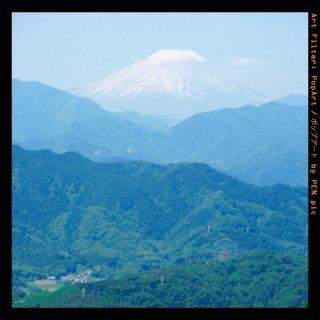 久々に高尾から見た富士