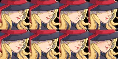魔女バニーさん/顔グラ1