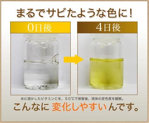 ビタミンCは酸化しやすい