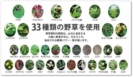 33種類の野草を使用