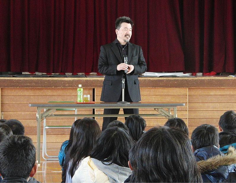 神領小学校講演