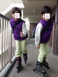 016インラインスケート履いて