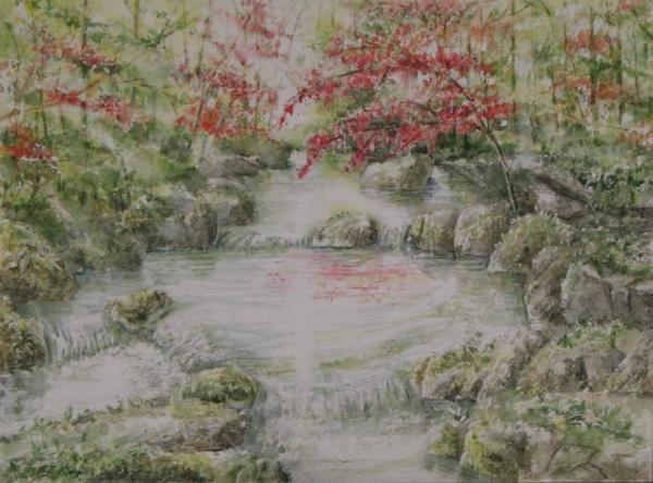 渓流の紅葉1411