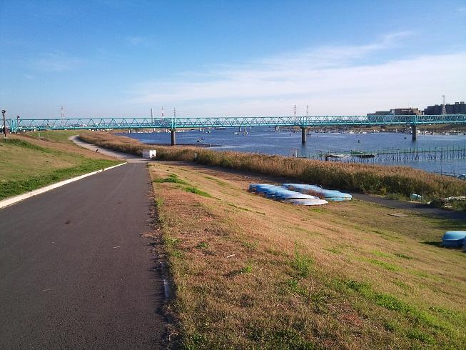 江戸川の土手