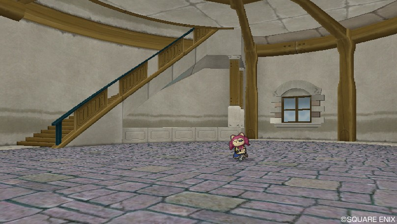 内装石畳の床
