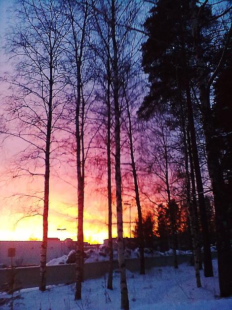 Sunset maisema