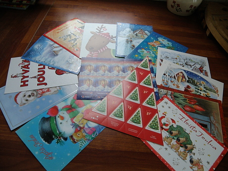 Joulupostimerkki kortti 2012