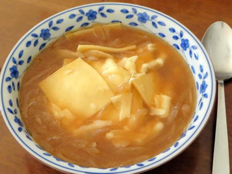余ったパスタのオニオンスープ