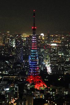 120718五輪色の東京タワー