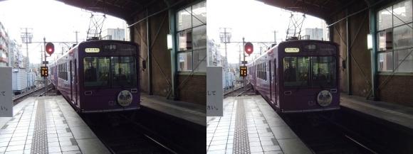 嵐電 北野白梅町駅(交差法)