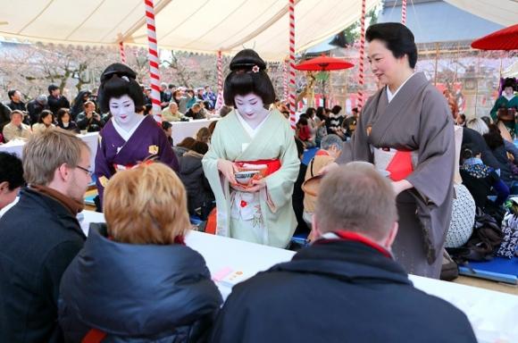 梅花祭 芸舞妓による野点3