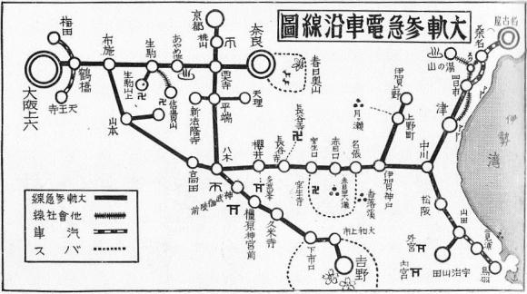 大阪電気軌道路線図