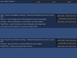 LAC Stick Trainer for iPad menu