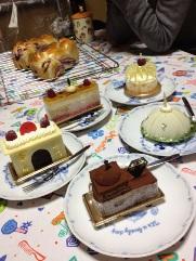 ケーキ勢ぞろい