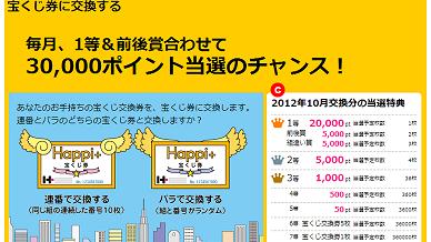 ハピタス宝くじ1