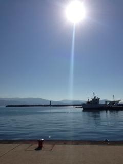 和歌浦の海