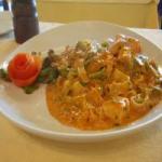 ジョルジオ トマトクリームソースのサーモン
