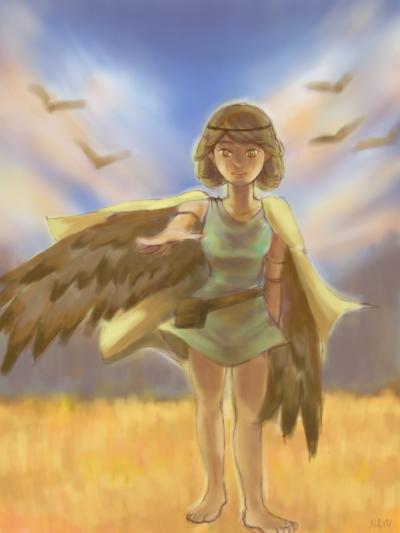 羽のある少女