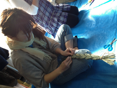 三つ編みリース4