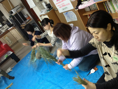 三つ編みリース3