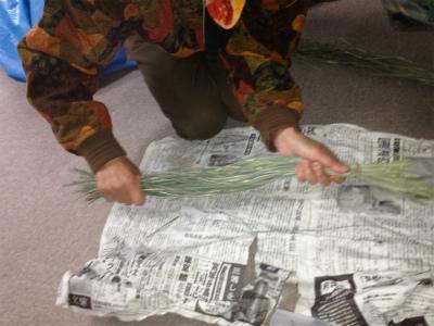 三つ編みリース1