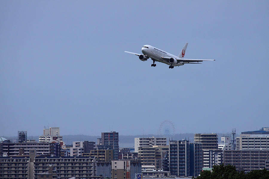 JAL B767-346 JAL311@アクシオン福岡(by EOS 50D with EF100-400mm F4.5-5.6L IS USM)