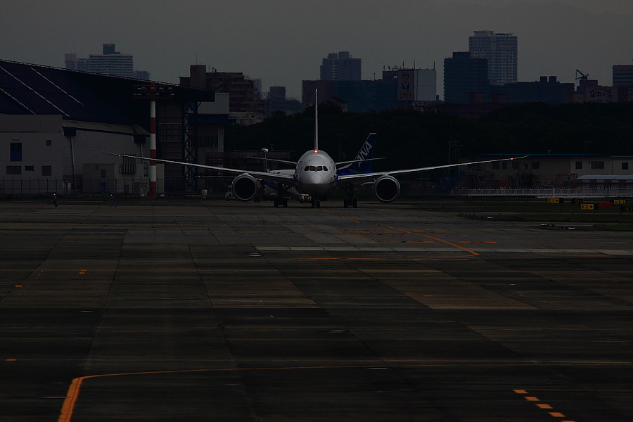 ANA B787-881 ANA24@下河原緑地展望デッキ(by EOS 50D with SIGMA APO 300mm F2.8 EX DG/HSM + APO TC1.4x EX DG)