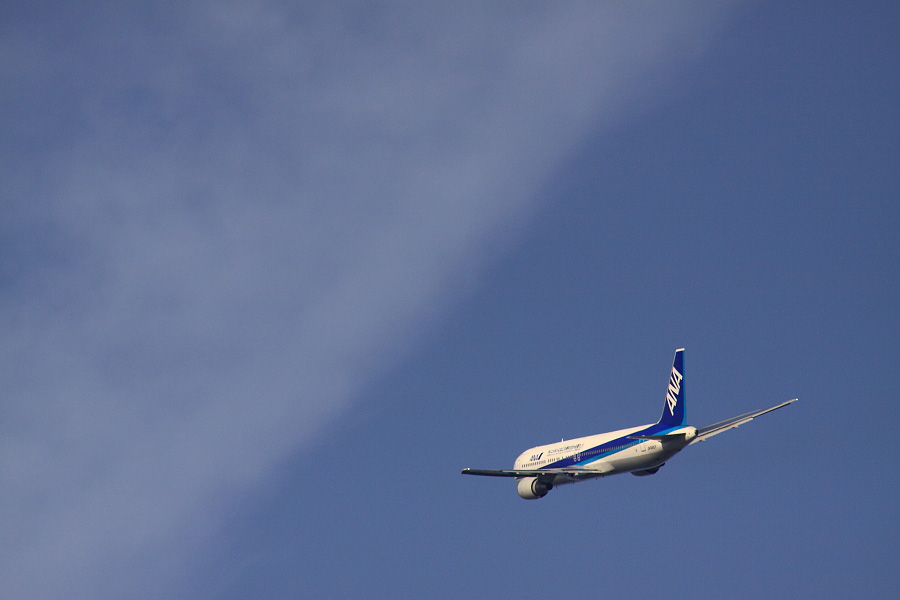 ANA B767-381 ANA421@下河原緑地展望デッキ(by EOS 50D with SIGMA APO 300mm F2.8 EX DG HSM + APO TC2x EX DG)