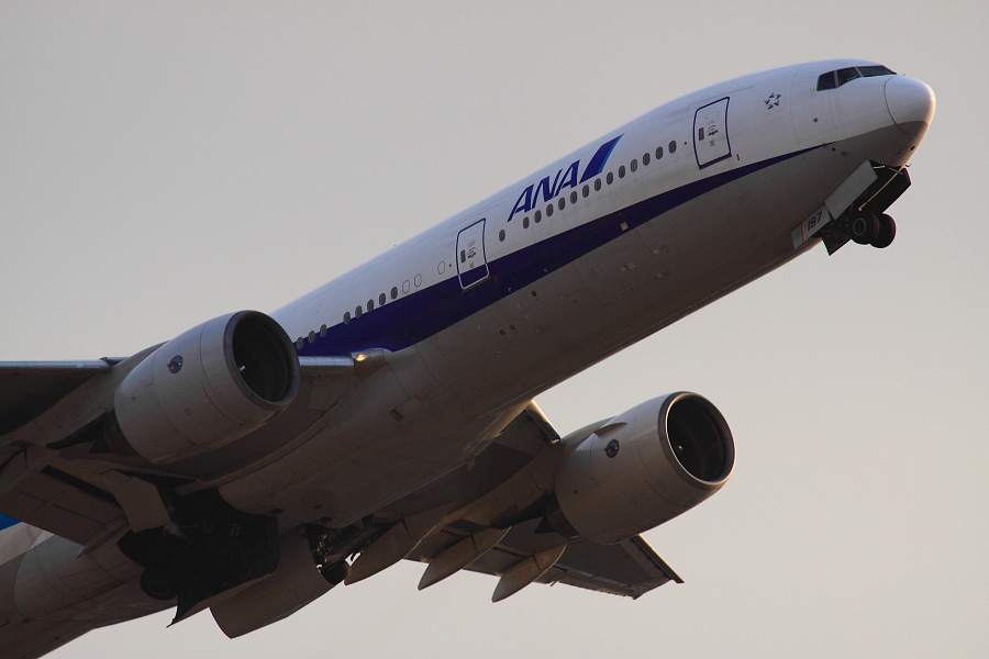 ANA B777-281 ANA32@下河原緑地展望デッキ(by EOS 50D with SIGMA APO 300mm F2.8 EX DG HSM + APO TC2x EX DG)