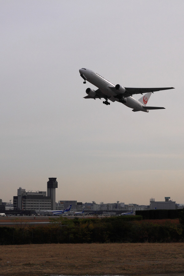 JAL B777-246 JAL110@リサイクルセンター周辺(by EOS 50D with SIGMA 18-50mm F2.8 EX DC MACRO)