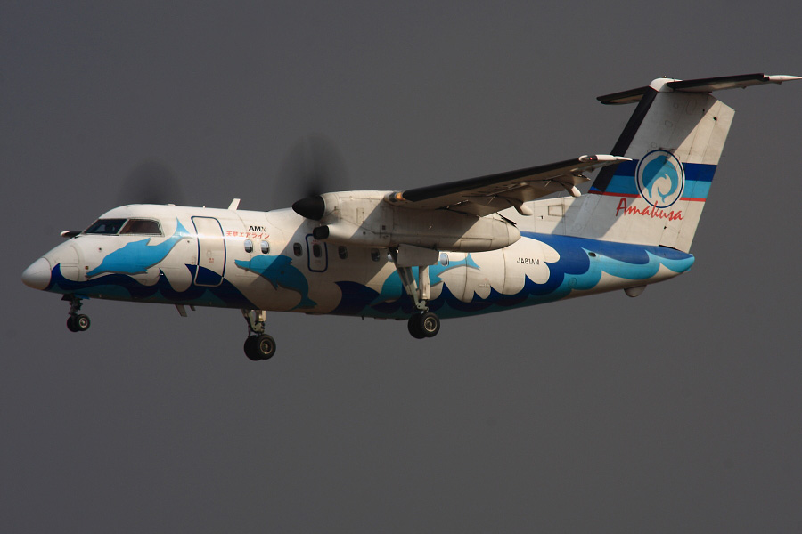 AMX DHC-8-103Q AMX801@伊丹スカイパーク(by EOS 40D with SIGMA APO 300mm F2.8 EX DG HSM + APO TC2x EX DG)