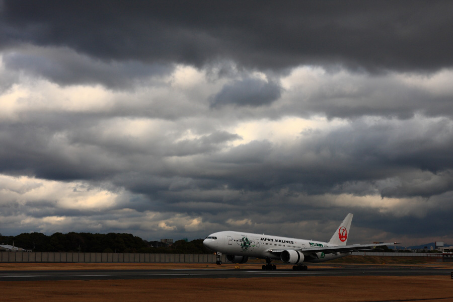 JAL B777-246 JAL119@伊丹スカイパーク(by EOS 40D with SIGMA 18-50mm F2.8 EX DC MACRO)