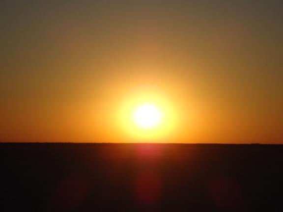 マカディカディパンの夕日