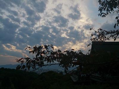 清水寺と空
