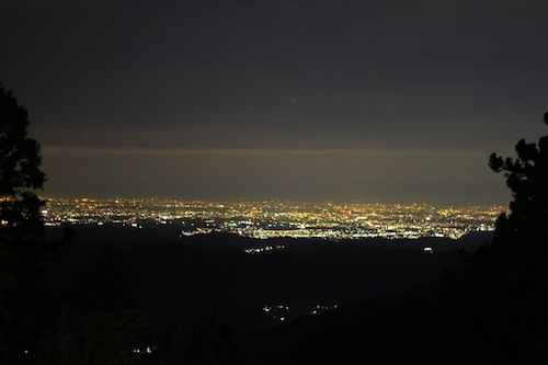 憩山荘 夜景