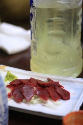 馬刺と笹の葉茶
